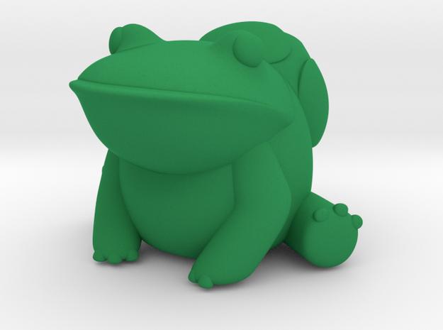 Bubbasaur in Green Processed Versatile Plastic
