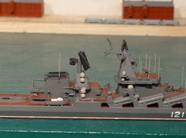 1/1250 Soviet Slava Missile Cruiser 3d printed Painted as Moskva