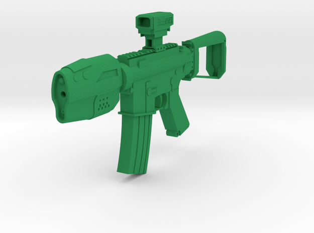 Gunder R4F SciFi CQB Rifle in Green Processed Versatile Plastic
