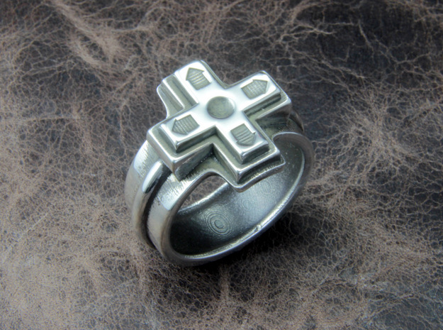 Ring of the gamer in Polished Silver: 10 / 61.5