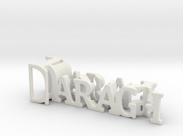 3dWordFlip: Daragh/Jizzy in White Natural Versatile Plastic