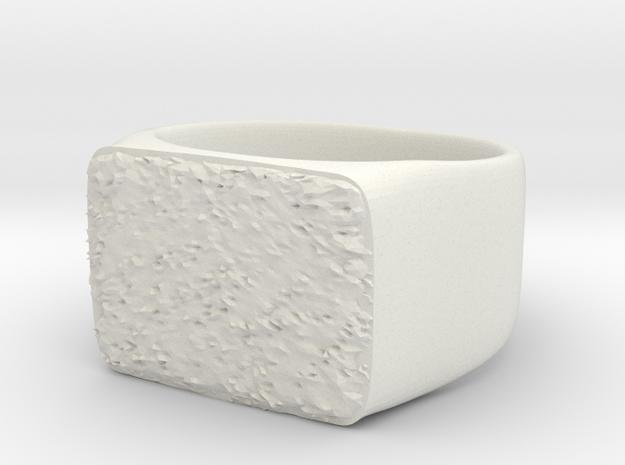 Joker's Rectangle Ring - Metals in White Natural Versatile Plastic: 7 / 54