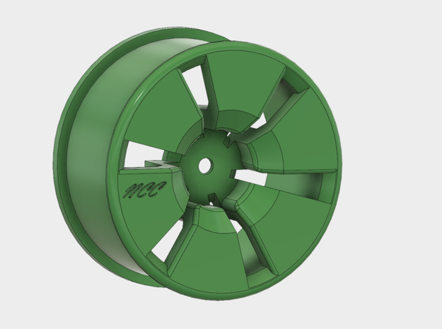 1/10 Rim Slotted W/Offset By:NCC in Green Processed Versatile Plastic