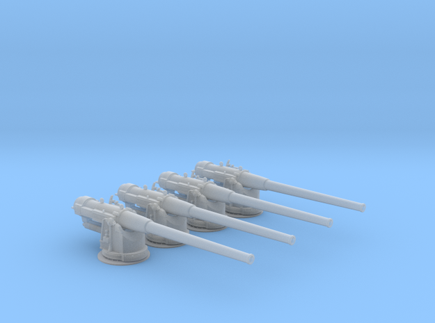 1/100 Russian 152mm /45 Naval Gun Set x4 in Smooth Fine Detail Plastic