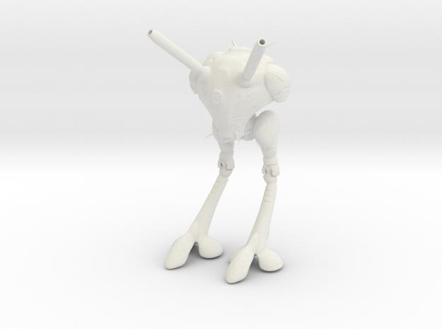 Robotech - Zentradi Battlepod in White Natural Versatile Plastic