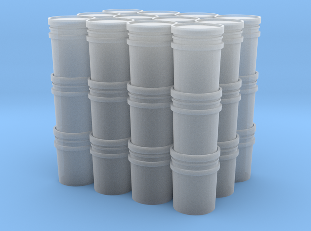 1/64 Pallet of Buckets in Smooth Fine Detail Plastic