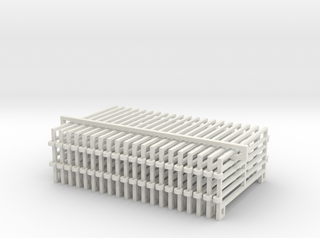 1/64 10ft Corral Panels in White Natural Versatile Plastic