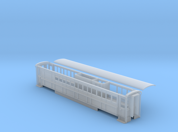 Welsh Highland Rly service coach NO.2011 ex 2020 in Smooth Fine Detail Plastic