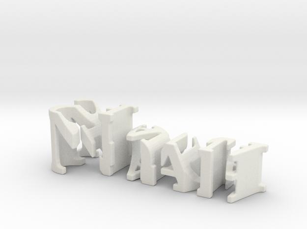 3dWordFlip: Noah/Shauna in White Natural Versatile Plastic