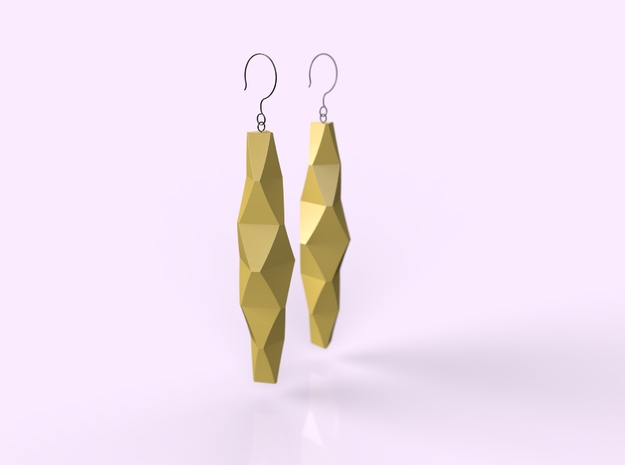Chic Folds in Natural Brass
