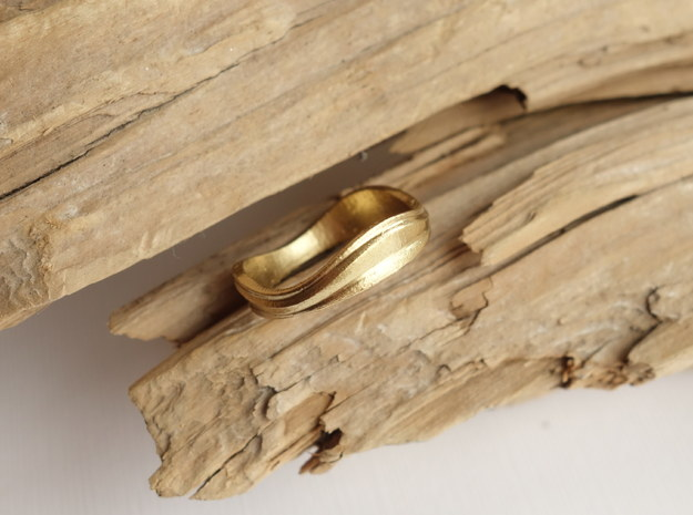 Ebb and Flow Ring No.2 - Size 7 in 14K Yellow Gold
