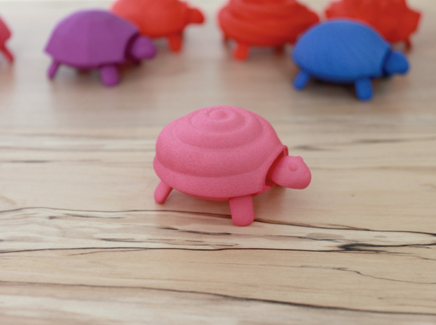 Squishy Turtle - Swirled Bun in Pink Strong & Flexible Polished