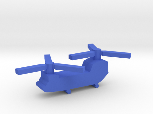 Game Piece, Blue Force Chinook Heli in Blue Processed Versatile Plastic