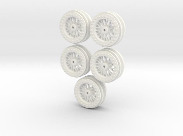 1/16 WPL C14 Toyota Hilux Wheels V2 in White Processed Versatile Plastic