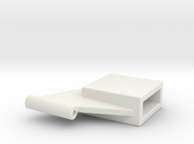 Front bearing for rubber powered free flight in White Natural Versatile Plastic: Extra Small