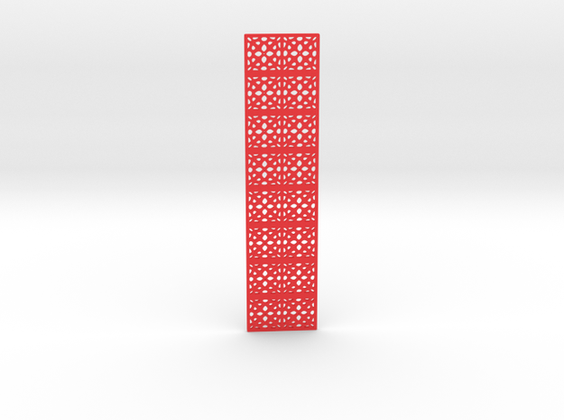 Openwork bookmark in Red Processed Versatile Plastic