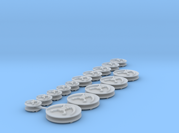 Commission 20 icons in Smooth Fine Detail Plastic