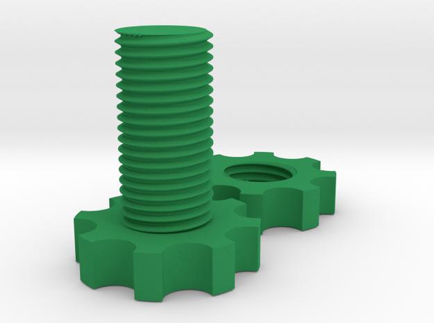 Fidget Bolt  in Green Processed Versatile Plastic