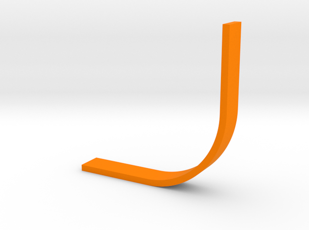 Arch Bookend in Orange Processed Versatile Plastic