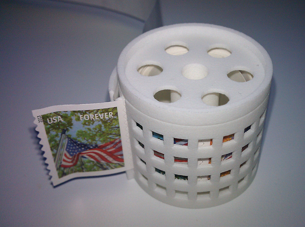 stamp roll dispenser The Postmaster 2 in White Strong & Flexible