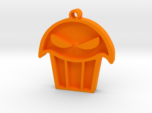 Limited Edition - Seattle Muffin Tops Pendant in Orange Processed Versatile Plastic