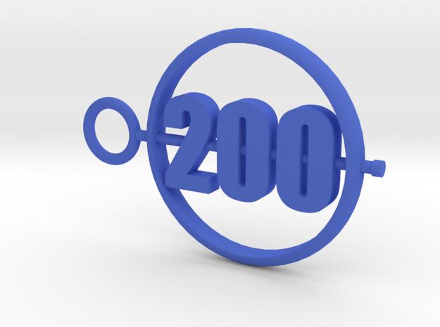 200_50mm in Blue Processed Versatile Plastic
