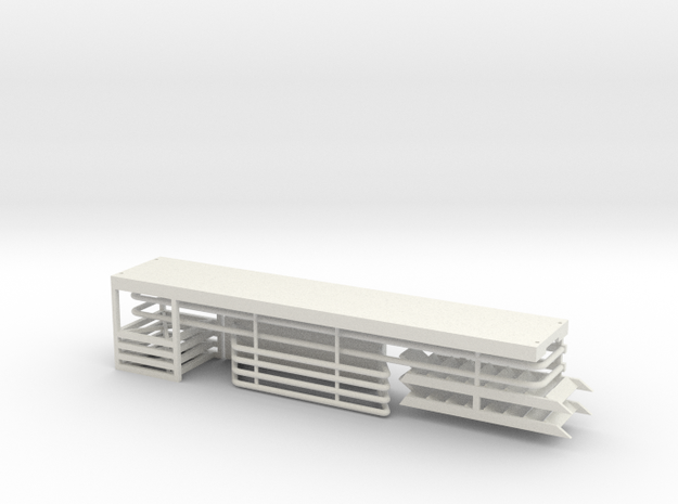 Service Walkway Kit 25ft HO 87:1 Scale in White Natural Versatile Plastic
