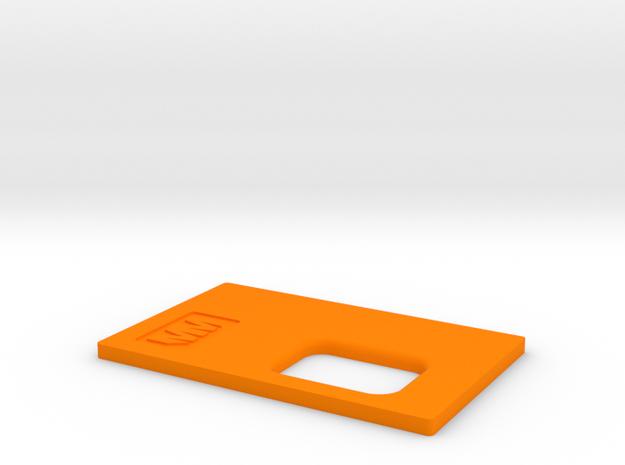 MM Mech Squonk 3P 18650Lid in Orange Processed Versatile Plastic