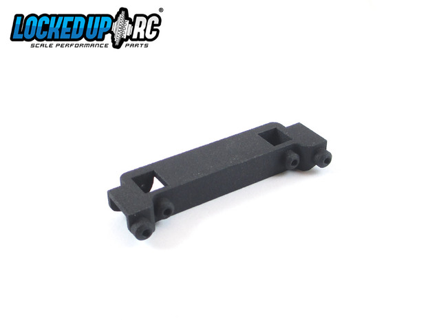 Traxxas TRX4 to SCX10 II Cherokee XJ post support in Black Natural Versatile Plastic