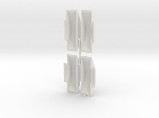 Gauge 3 Neilson Wheel Splashers in White Strong & Flexible