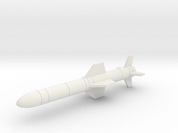 AGM-84 Harpoon in White Natural Versatile Plastic