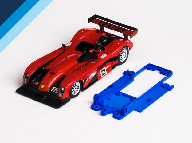 1/32 Fly Panoz LMP-1 Chassis for Slot.it pod in Blue Processed Versatile Plastic