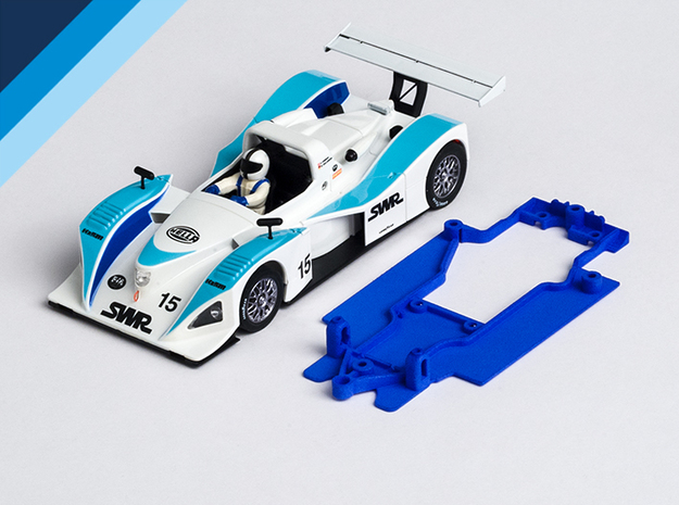 1/32 Spirit Lola B2K/10 Chassis for Slot.it pod in Blue Processed Versatile Plastic