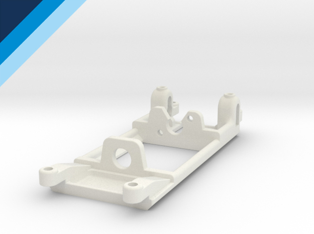 FF050 motor mount - Slot.it compatible in White Natural Versatile Plastic