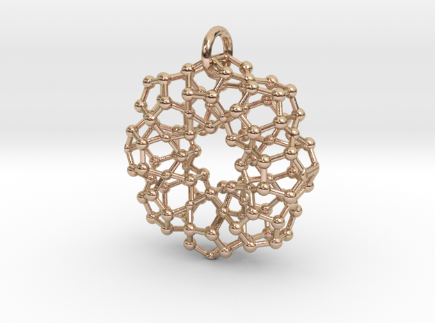 Tubed Pendant in 14k Rose Gold Plated Brass