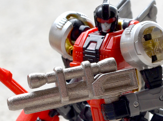 Dinobot Slash's Rifle  (PotP) in Black Natural Versatile Plastic: Large