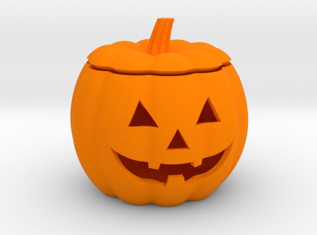 Halloween Pumpkin LED candle holder in Orange Processed Versatile Plastic
