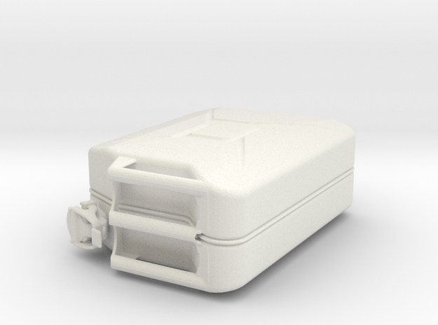 1:7 jerry can custom made in White Natural Versatile Plastic