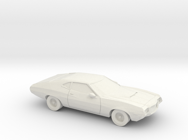 1/64 1972 Ford Gran Torino in White Natural Versatile Plastic