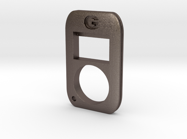 Compact Knuckle Bottle Opener  in Polished Bronzed Silver Steel