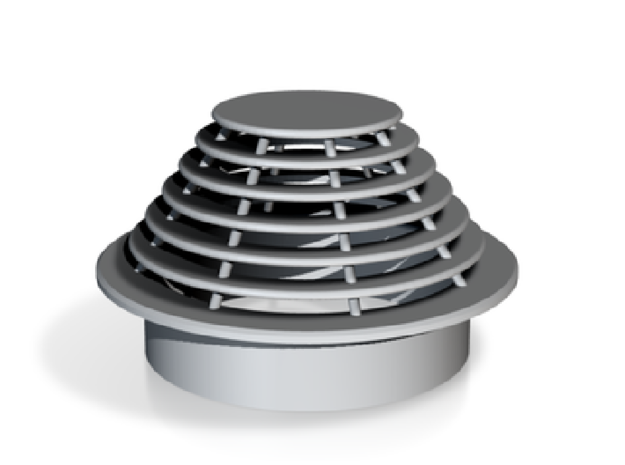 Vent Insert - 50mm hole stacked plates in White Natural Versatile Plastic