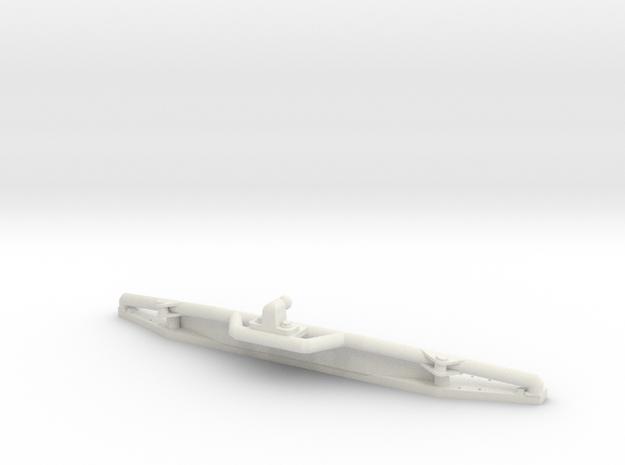 Rear bumper protection bar towbar D90 D110 RC4WD in White Natural Versatile Plastic