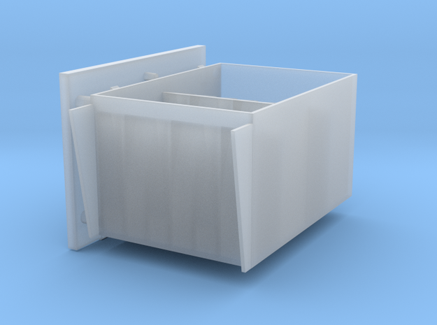 2 cm Ammo boxes 1to35 hinges left in Smooth Fine Detail Plastic