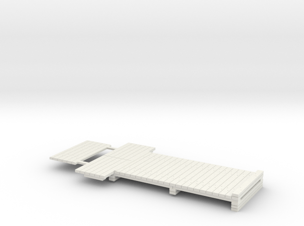 7mm Scale Standard Sleeper Take Off in White Natural Versatile Plastic