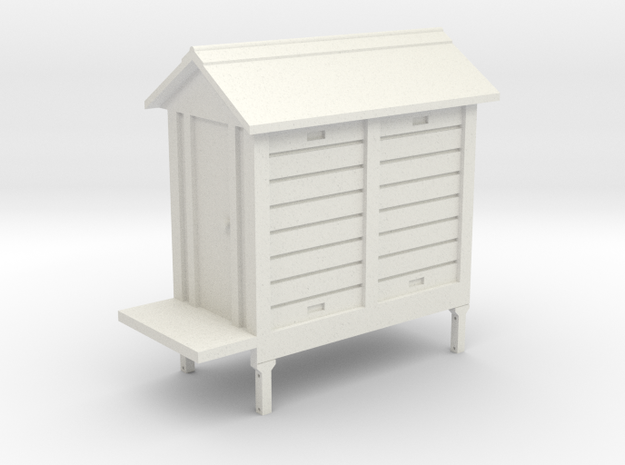 7mm Scale NSWGR Signal Hut - 2 Bay in White Natural Versatile Plastic