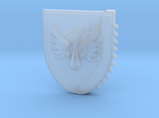 Right-handed Chainshield (Flying Tear design) in Smooth Fine Detail Plastic: Small