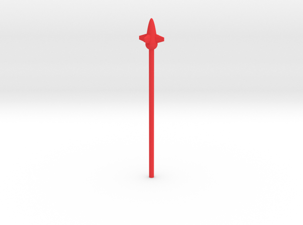Bug's Rocket Lance 3mm handle in Red Strong & Flexible Polished