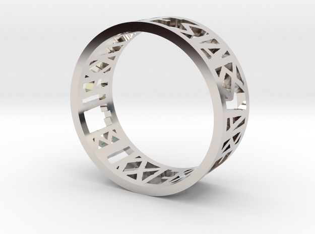 Hamlet Quote Ring_Bend in Rhodium Plated Brass