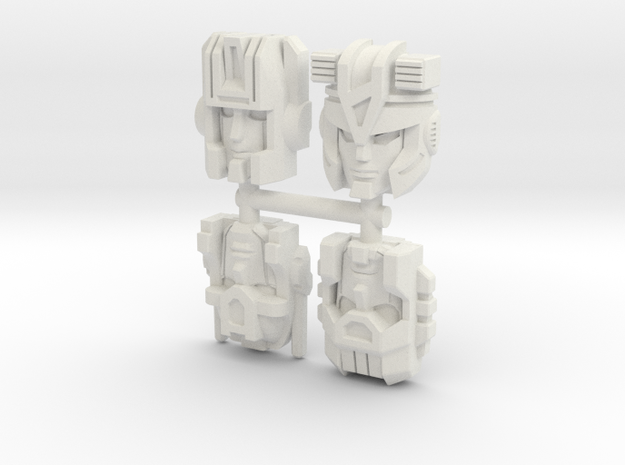 Headmaster Warriors 4-Pack (Titans Return) in White Natural Versatile Plastic