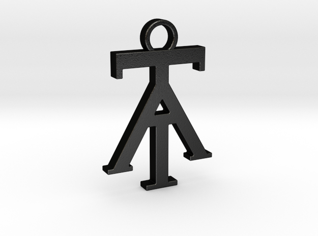 Think & Attract Pendant in Matte Black Steel